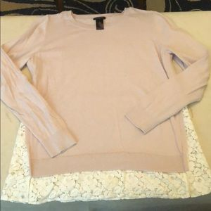 Ann Taylor long sleeve with lace underlay